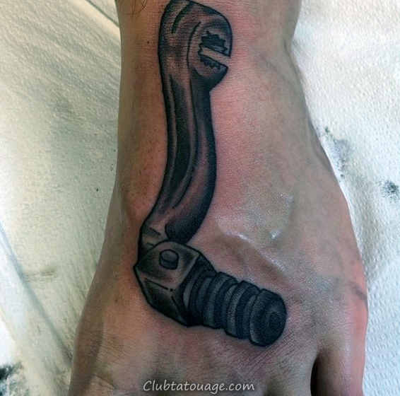 Guys Motocross Clutch Dirt Bike Tattoo À pied