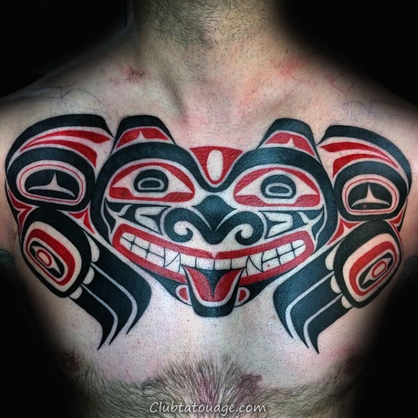 Haida diable Tattoo Guys Chest
