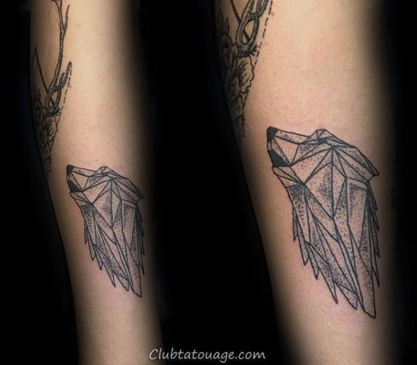 Howling géométriques Loup Petits guys tattoo Ideas