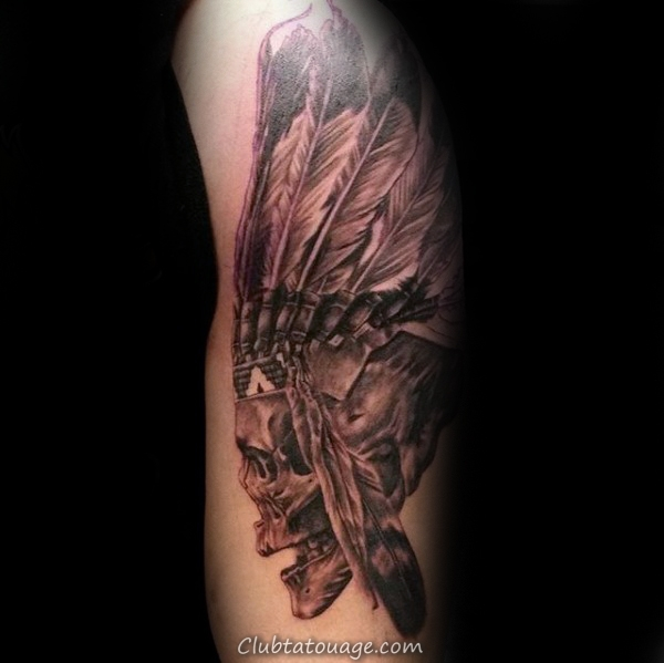 width indiens Crâne Homme tatouage Idées sur le bras