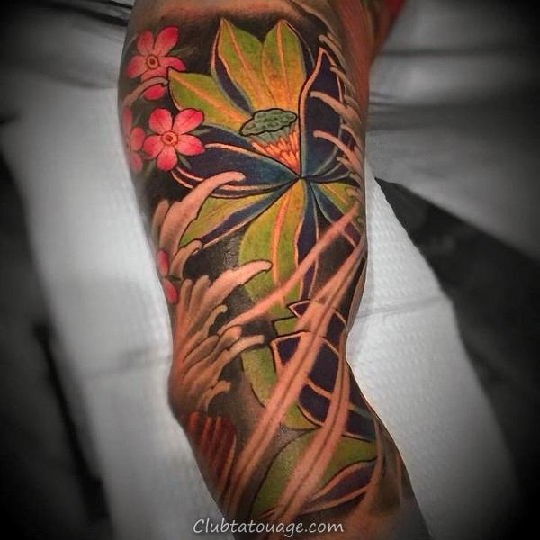 Homme Avec 3d Arm Inner Rose Flower Tattoo