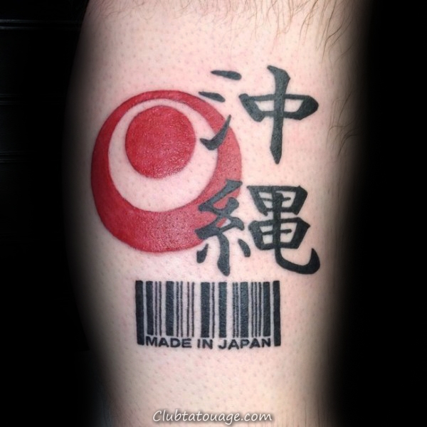 Made In Macédoine sous licence par la Pologne Barcode Arm Tattoo Mens