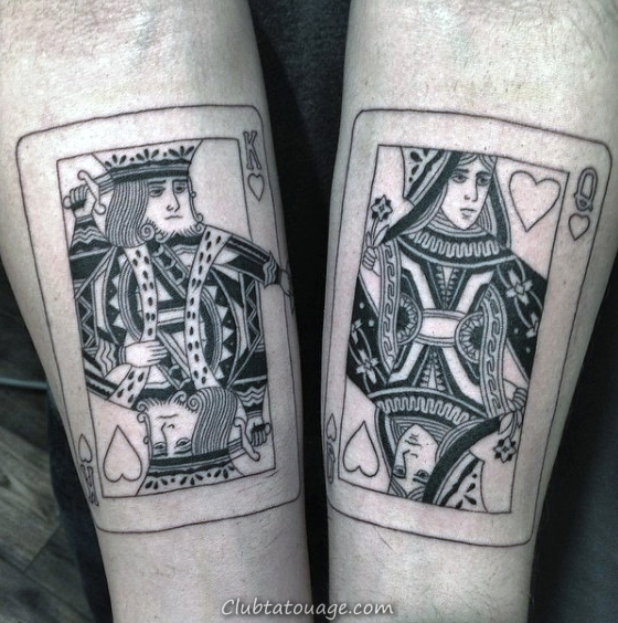 King Avec Diamant Playing Card Mens Full Back Tattoo