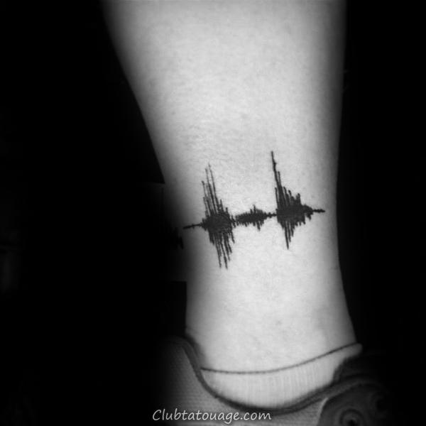 Basse-jambe au-dessus de cheville Homme Soundwave Tatouages