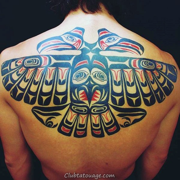 Homme Retour Magnificient Haida Tattoo