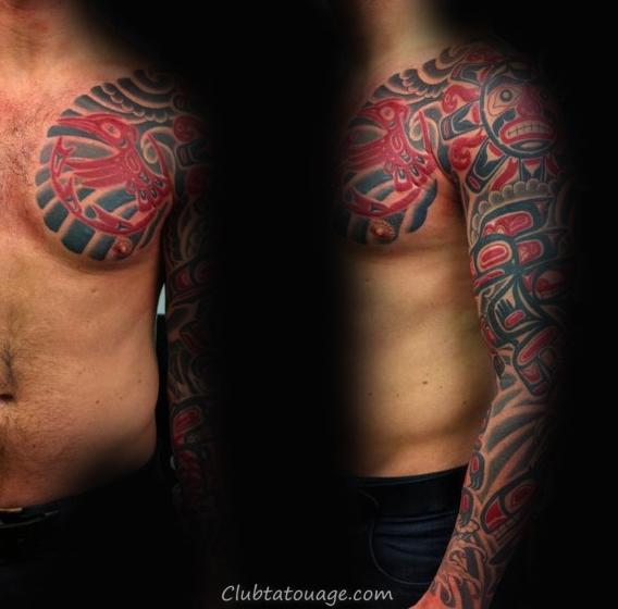 width Homme pleine Manches classique Haida Tattoo