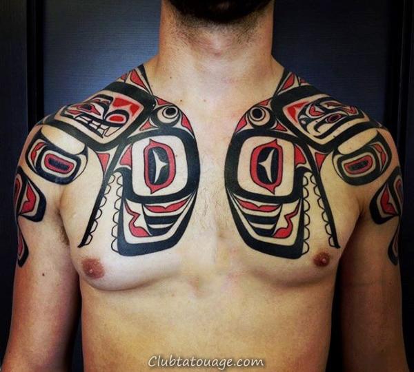 épaules Homme Haida Paire Tattoo