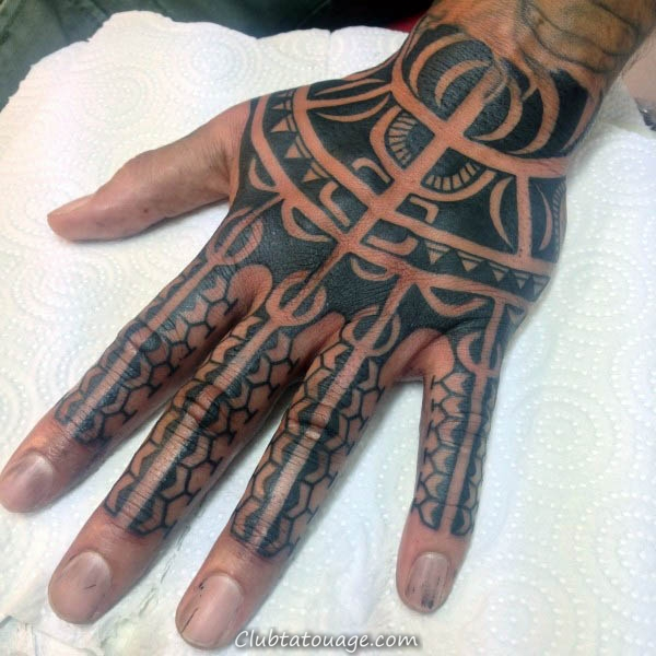 Manly Tatouages main tribal Pour Guys 600