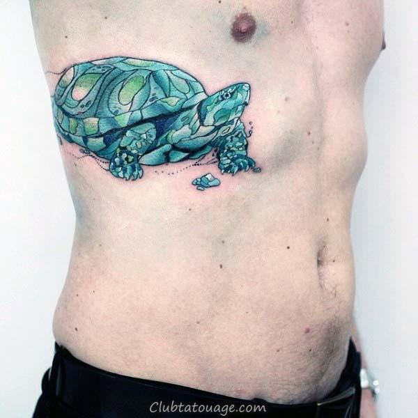 Manly Forearm Sleeve Tortue Et Hammerhead Shark tatouages pour les hommes