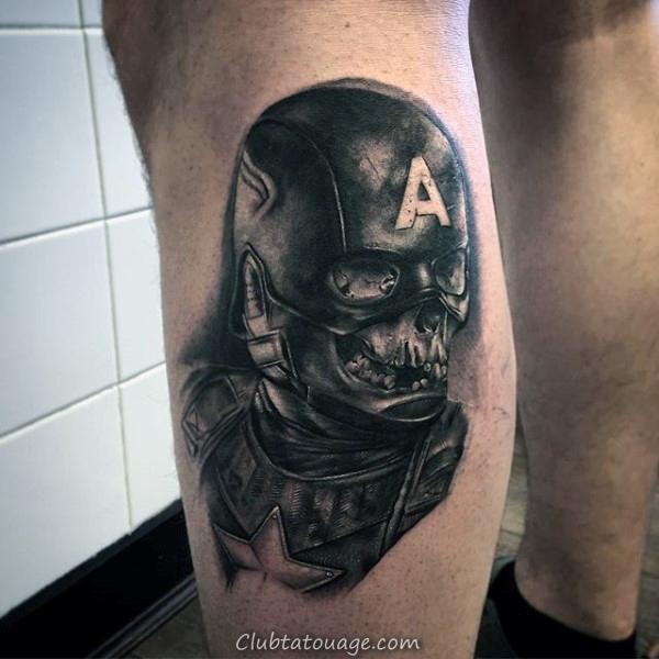 Marvel Comics à thème Captain America complète Tattoo Sleeve Sur Gentleman