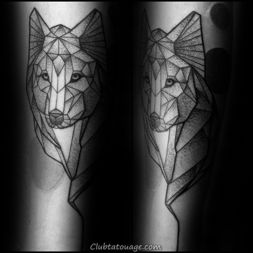 Man With Geometric Loup Inner Forearm Tattoo