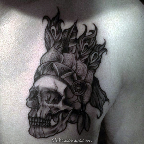 man-with-shaded-indian-skull-tattoo-on-upper-chest