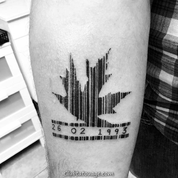 30 Barcode Tattoo Designs For Men - Idées d'encre de ligne parallèle