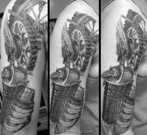 Mens Motocross Dirt Bike Tattoos Sur Forearm