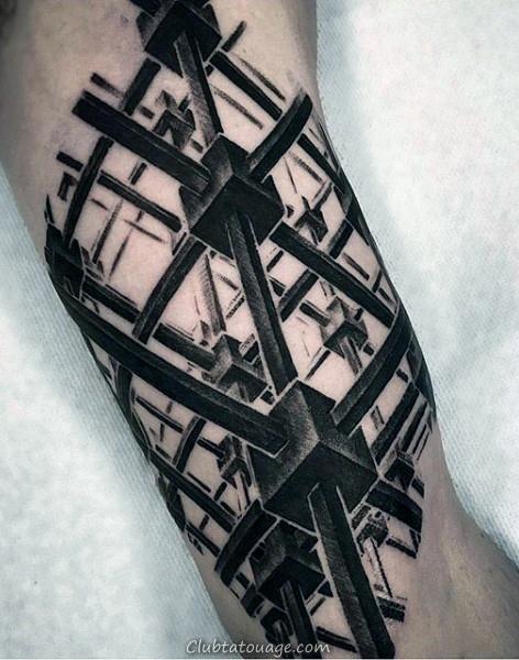 Mens Citation Inner Arm Tattoos