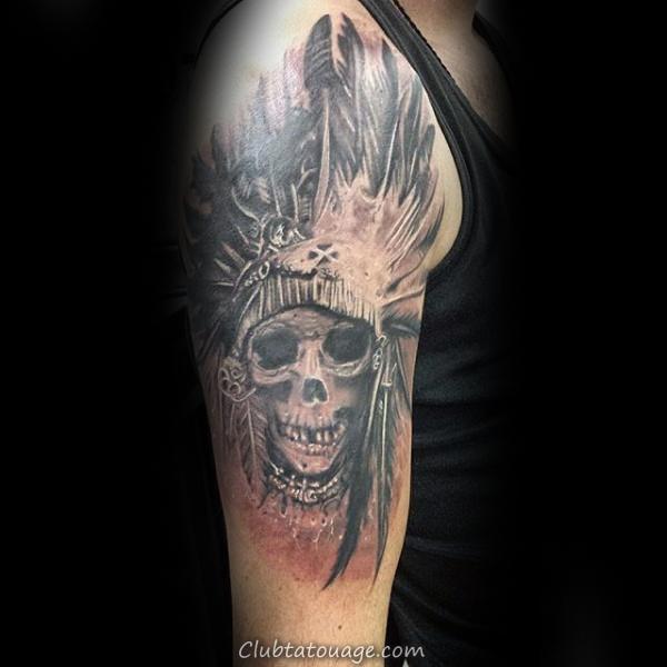 mens-chief-indian-skull-upper-arm-tattoo-design-inspiration