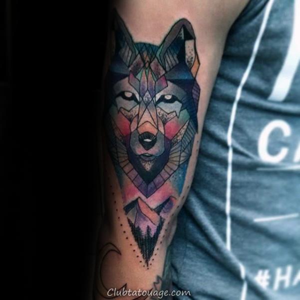 90 Geometric Loup Tattoo Designs For Men Id 233 Es Manly Encre 187 Club Tatouage