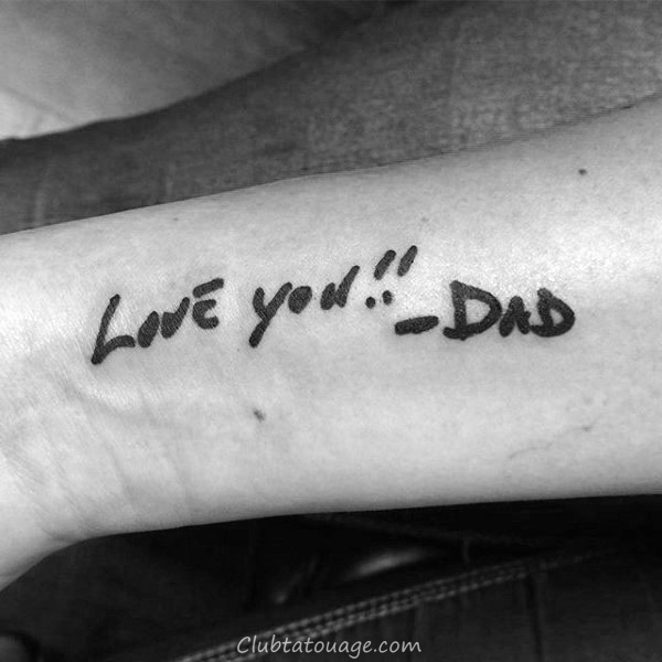 70 Papa Tatouages pour les hommes - Memorial Ink Design Ideas