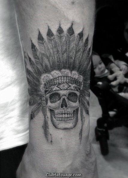 Hommes indiens Crâne poignet Tatouages