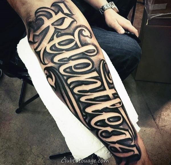 Mens Upper Retour king Of Kings Script Tattoo