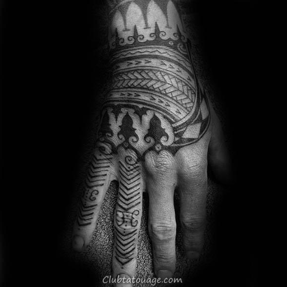 espace indigène tribal Tatouages Homme main