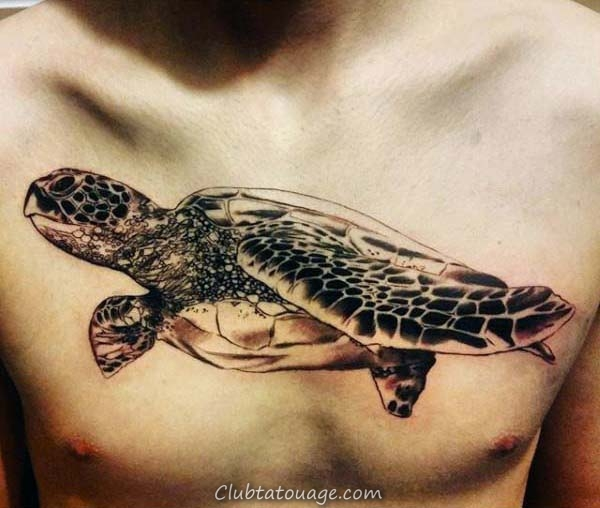 Neo Tattoo traditionnel Turtle On Mans Arm