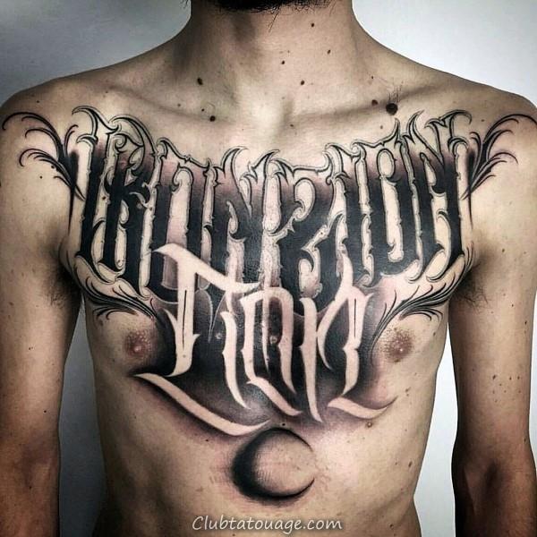 Outer main Script Tattoo Avec Lettrage décoratif pour les gars
