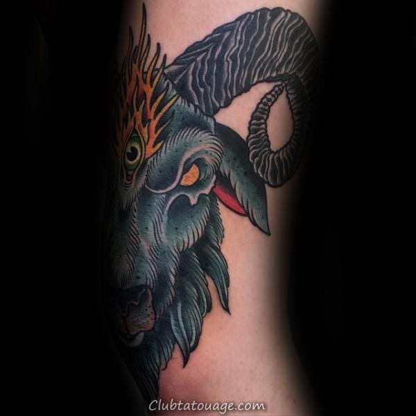 100 Tattoo Designs Ram pour les hommes - Idées d'encre de moutons Bighorn