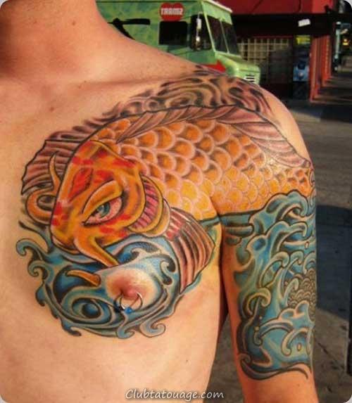 tatouage de poissons