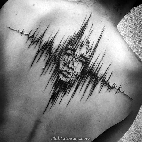 Portrait Retour Soundwave Homme Tattoo Ideas
