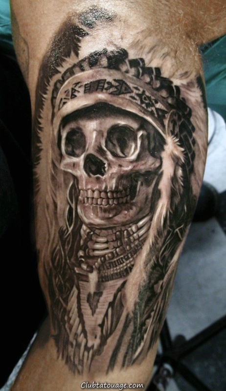 width réaliste Inner Indian Arm Skull Tattoos Pour Gentlemen
