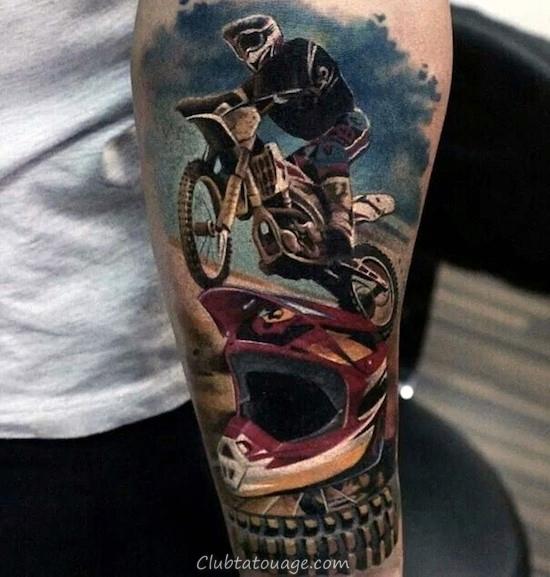width réaliste de tatouage Mx Motocross Guys Forearm