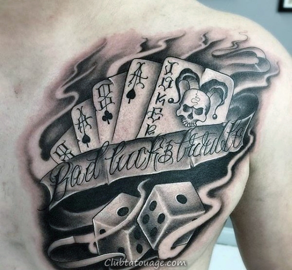 Skeleton Hand With Ace Of Spades Jouer Tattoo Card Male