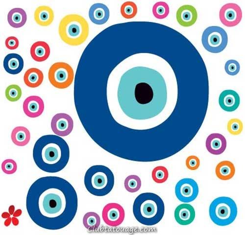 30 photos tatouages eye signification grec club tatouage for Casser un miroir signification