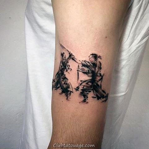 Coup de pinceau Swan Leg Tatouages pour les hommes