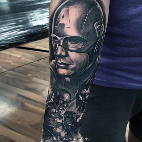 Les petits simples Captain America Shield Tatouages pour les hommes sur le poignet