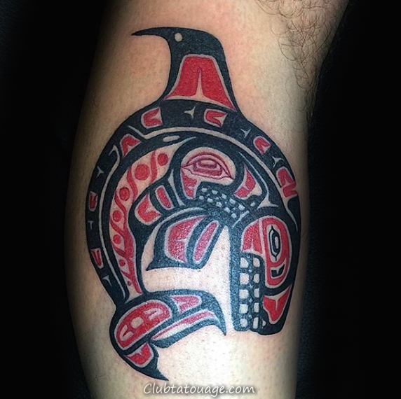 de Sharp Beaked Haida oiseau Tattoo