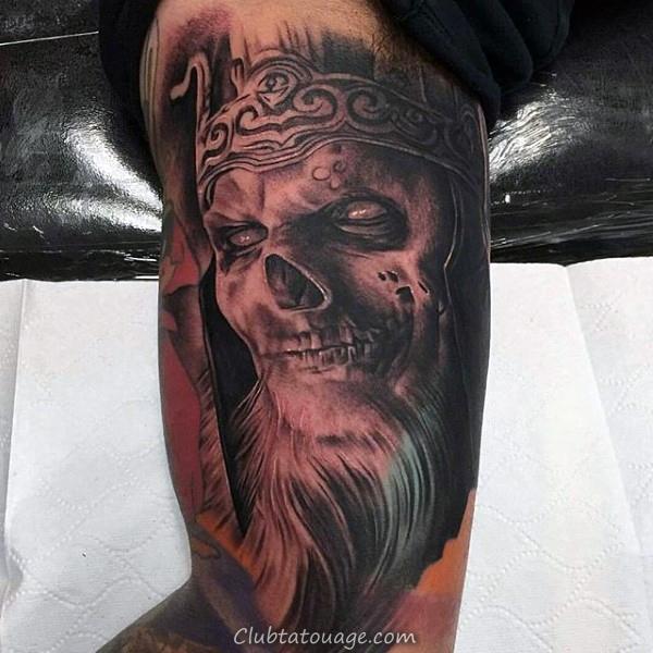 Aquarelle Inner Eye Arm Tattoo Sur Man