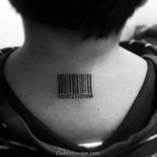 unique Barcode Arm Tattoos Pour Guys