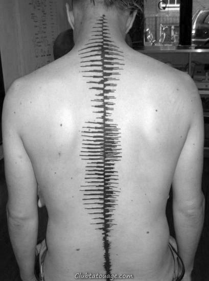 Spine Soundwave Homme Tatouages