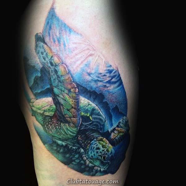 width tortue Castle Mens Retour Tattoo