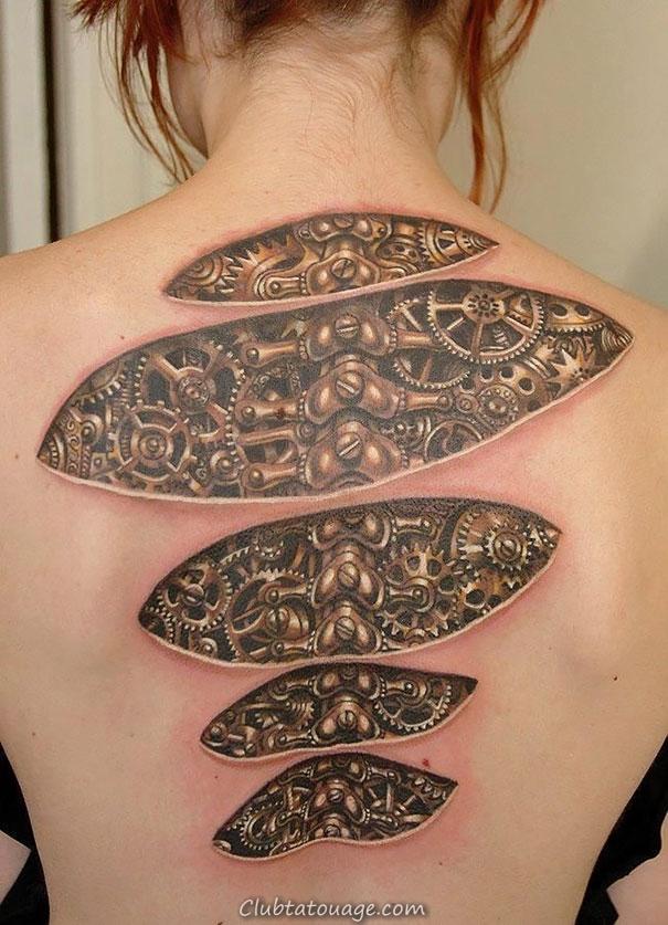 3d tatouage sur le bras