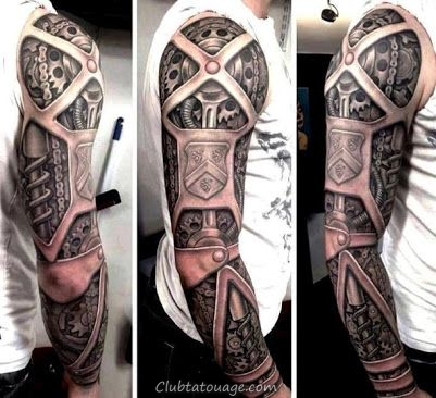 toute le bras de tatouage