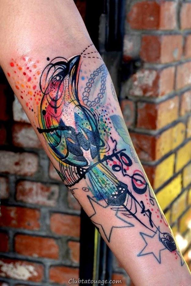 tatouages aquarelle
