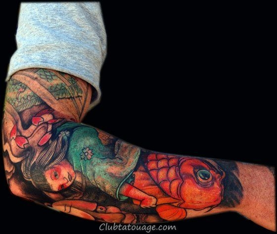 tatouages de la carpe sur le bras