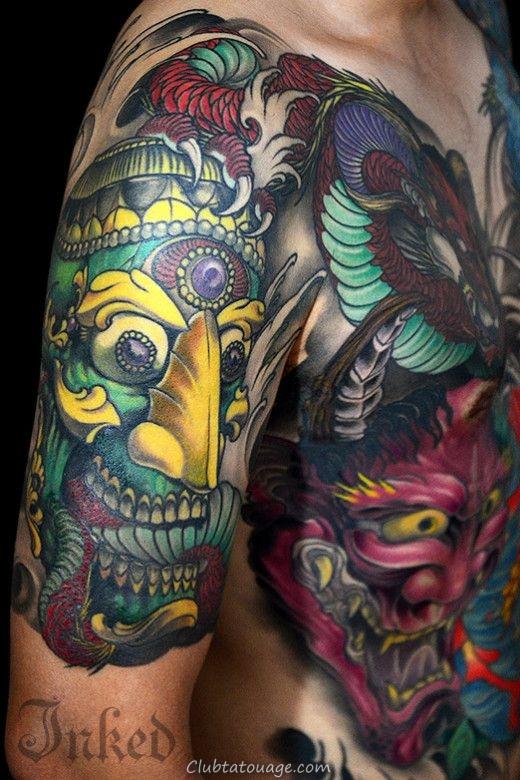 on voit une femme avec un tatouage tibétain