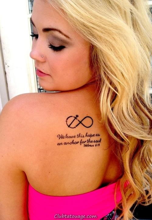 les meilleurs tatouages des ancres, nous voyons une fille avec une belle et délicate tatouage