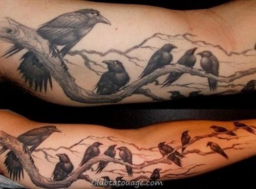 cuervos5 tatouages