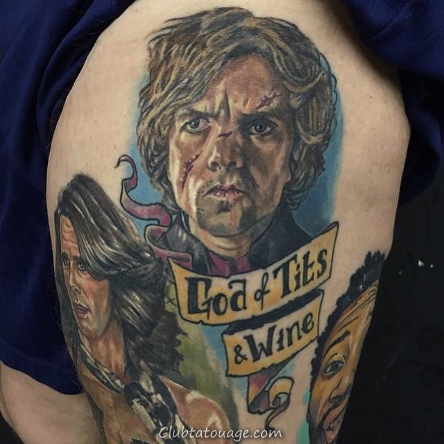 impressionnant jeu de tatouages of Thrones