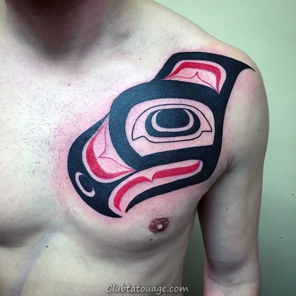width traditionnel Haida Tattoo Male Chest